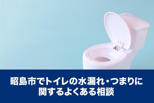 昭島市でトイレの水漏れ・つまりに関するよくある相談