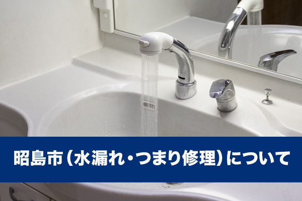 昭島市(水漏れ・つまり修理)について