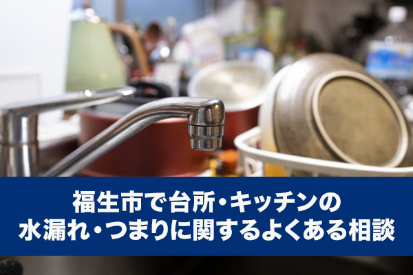 福生市で台所・キッチンの水漏れ・つまりに関するよくある相談