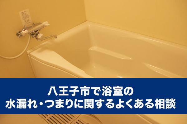 八王子市で浴室の水漏れ・つまりに関するよくある相談