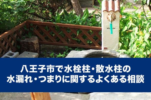 八王子市で水栓柱・散水柱の水漏れ・つまりに関するよくある相談