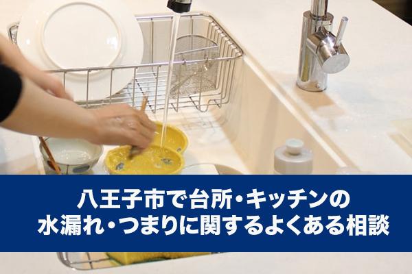 八王子市で台所・キッチンの水漏れ・つまりに関するよくある相談