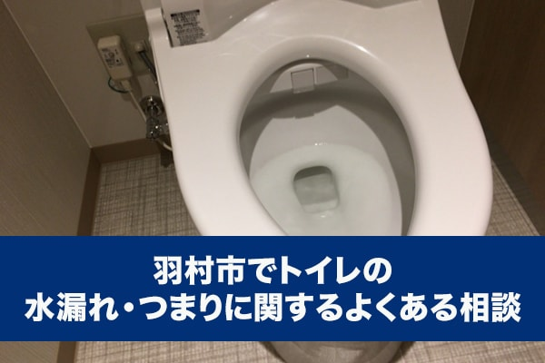 羽村市でトイレの水漏れ・つまりに関するよくある相談