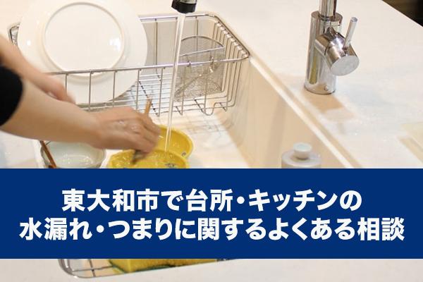 東大和市で台所・キッチンの水漏れ・つまりに関するよくある相談