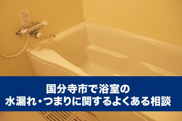 国分寺市で浴室の水漏れ・つまりに関するよくある相談