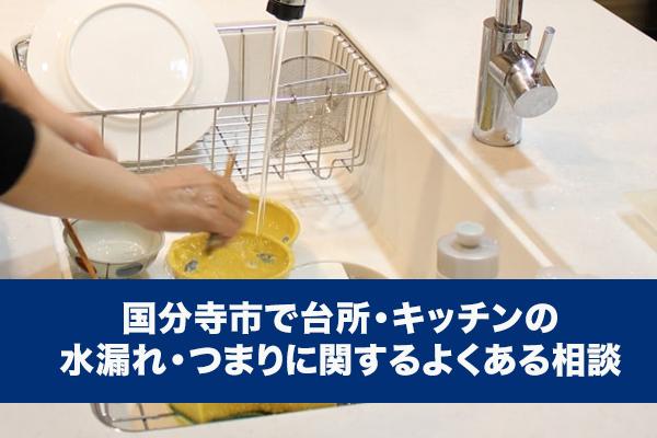 国分寺市で台所・キッチンの水漏れ・つまりに関するよくある相談