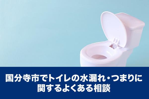 国分寺市でトイレの水漏れ・つまりに関するよくある相談