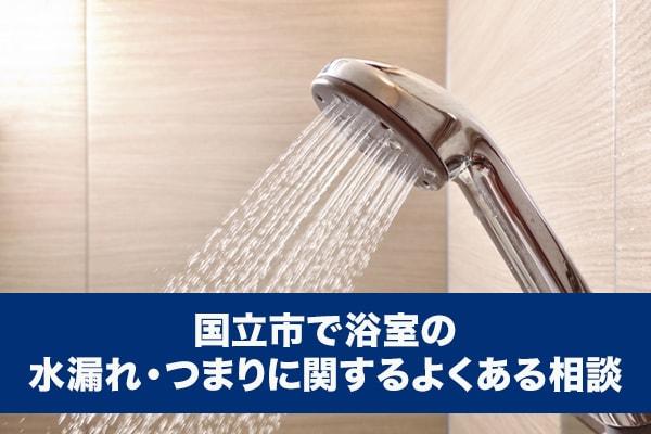 国立市で浴室の水漏れ・つまりに関するよくある相談