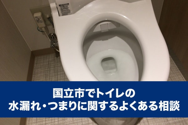 国立市でトイレの水漏れ・つまりに関するよくある相談