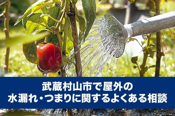 武蔵村山市で屋外の水漏れ・つまりに関するよくある相談