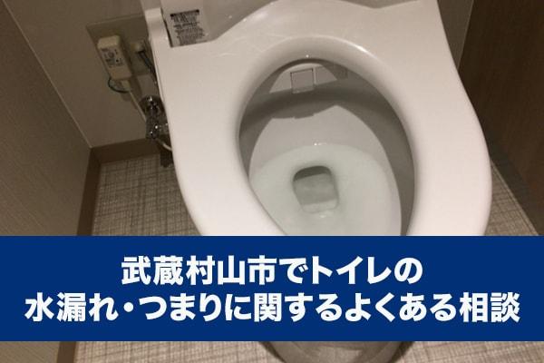 武蔵村山市でトイレの水漏れ・つまりに関するよくある相談