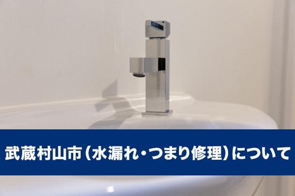 武蔵村山市(水漏れ・つまり修理)について