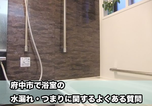 府中の浴室の水漏れ・つまり