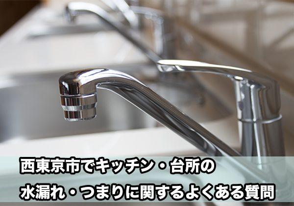西東京区の台所・キッチンの水漏れ・つまり