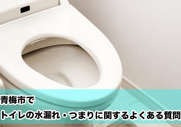 青梅市でトイレの水漏れ・つまりに関するよくある相談