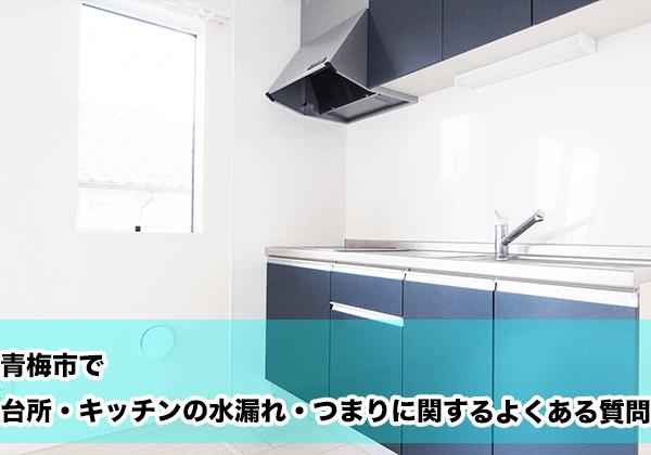 青梅市で台所・キッチンの水漏れ・つまりに関するよくある相談